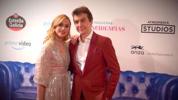 Los protagonistas de Pequeñas Coincidencias, Marta Hazas y Javier Veiga, celebran el éxito del preestreno en Madrid